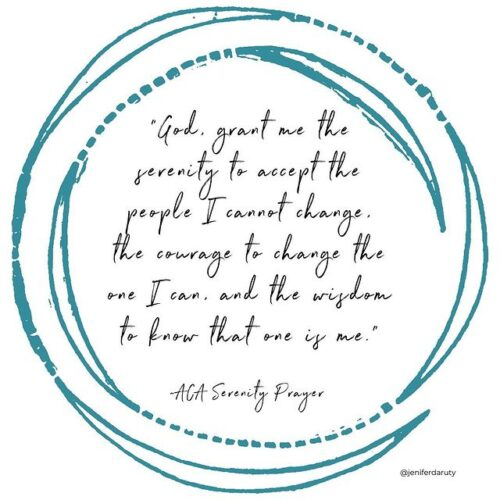 ACA Serenity Prayer